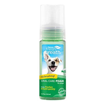 Fresh Breath by TropiClean Mint Foam for Pets, 4.5oz - Made in USA