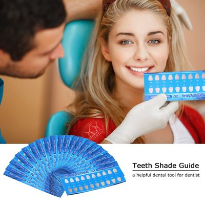 Teeth Shade Guide Paper 20 Colors Teeth Whitening Chart for Healthy & Beautiful Teeth Oral Care Dental Supplies