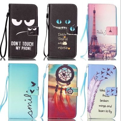 ZEALLION For Samsung Galaxy S3 S4 S5 mini S6 edge Case Cartoon Design Magnetic Holster Flip PU Leather Cover