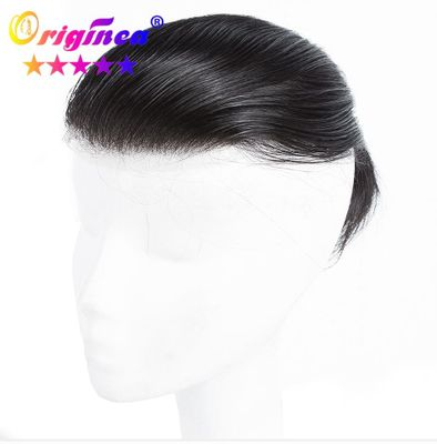 Originea 100% Human Hair Toupee For Man Wig Swiss Lace Base Straight Hair System Brazilian Remy Topper Hair Pieces Replacements