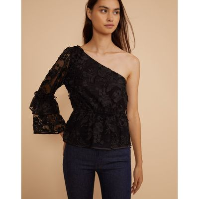Beatrix Lace One Sleeve Top