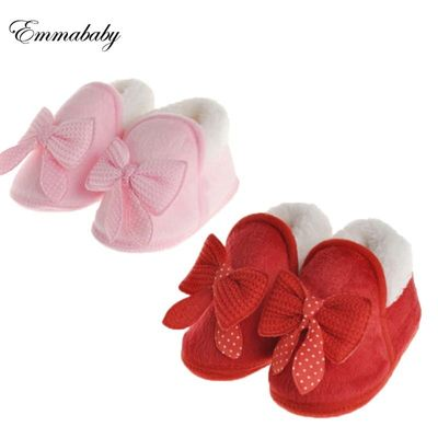 Emmababy 1 Pair Cute Girl Newborn Winter Warm Toddler Hot Soft Sole Boots Baby Crib Shoes Infant Pop 0-18M