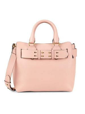 Burberry Leather Top Handle Bag