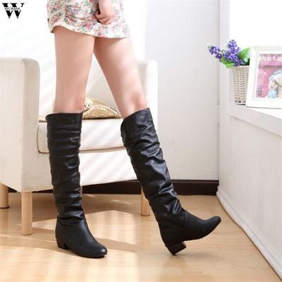 2018 Slim Boots Sexy Over The Knee High Suede Women Snow Boots Women's Fashion Winter Thigh High Boots Shoes Woman Nov28
