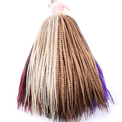 Luxury For Braiding  Syntheic Hair Ombre Burgundy Brown Blonde 24
