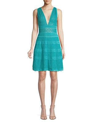 M Missoni Lattice-Knit A-Line Dress