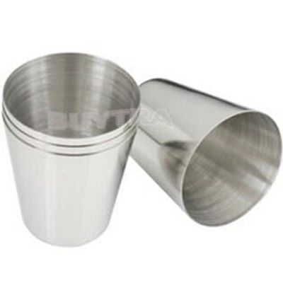 35ml 1oz Stainless Steel Camping Folding Cup Traveling Outdoor Camping Hiking Mug Portable Collapsible Cup Bottle