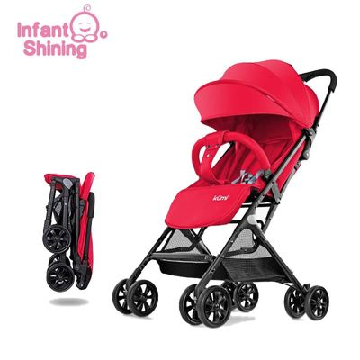 Infant Shining Baby Stroller 5.2kg Folding Baby Carriage 0-3Y  Lightweight Pram High Landscape Prams For Newborns Travel