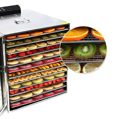 1000w 12 Layers Fruit Dehydrator Dryer Stainless Steel Food Dehydrator for Mushroom Fruit Vegetable Meat Timing Drying Machine