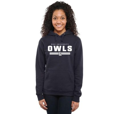 Rice Owls Women's Team Strong Pullover Hoodie - Navy