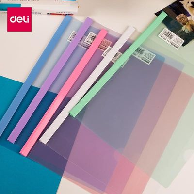 10 Pcs Deli Stationery PP Report Cover & Spine Bar Holder File Folders A4 For Exercise Books  Documents  Papers Bills