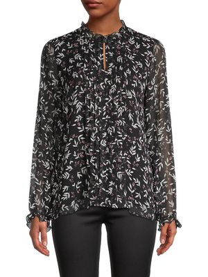 Karl Lagerfeld Paris Floral-Print Top