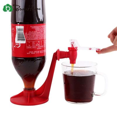 Bar Coke Fizzy Soda Soft Drinking Saver Dispense Dispenser Coke Inverted Drinking Creative Home Faucet Red Bar Supplies