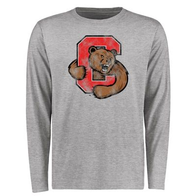 Cornell Big Red Big & Tall Classic Primary Long Sleeve T-Shirt - Ash
