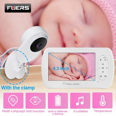 4.3 inch Video Baby Monitor with Camera Two-way Audio Nanny Baby Security Camera Babyphone Night Vision Temperature Detection