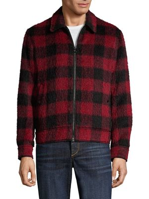 Rag & Bone Garage Plaid Wool-Blend Jacket