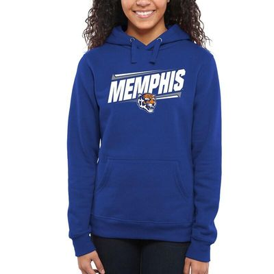Memphis Tigers Women's Double Bar Pullover Hoodie - Royal