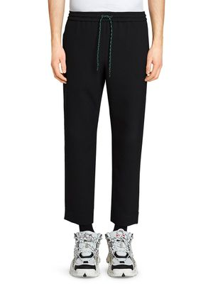 Kenzo Cropped & Tapered Cotton Joggers