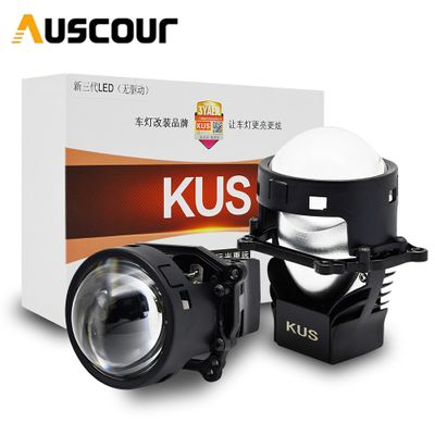 3.0 inch Bi LED Projector Lens LHD High and Low Beam Auto Headlamp Light bulb Retrofit upgrade universal fast bright car styling