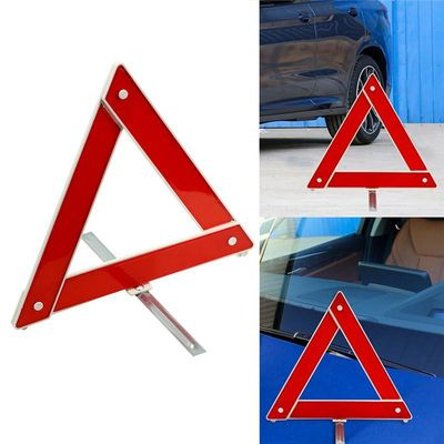 Auto Car Emergency Breakdown Warning Triangle Red Reflective Safety Foldable Parking Stander Stop Board Auto Tripod Holder