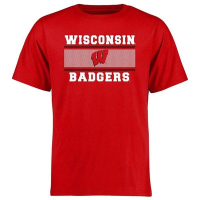 Wisconsin Badgers Big & Tall Micro Mesh T-Shirt - Red