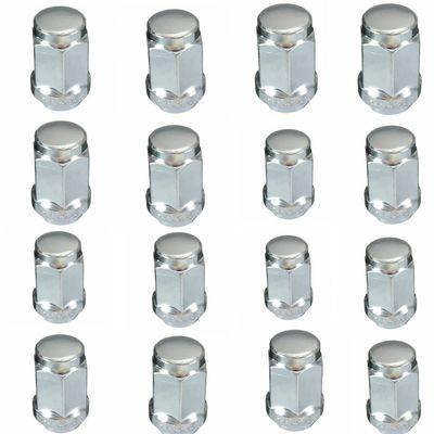 16pcs M12x1.5 Locking Alloy Steel Car Wheel Anti-theft Nuts 60 Degree Bolt for VW for FORD Sliver