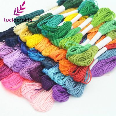 Lucia Crafts 6/8 pcs  7m Anchor Cross Stitch Embroidery Cotton Embroideried Sewing Thread W0101