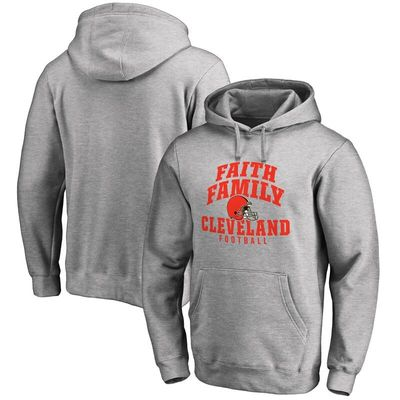 Cleveland Browns NFL Pro Line Faith Family Pullover Hoodie - Athletic Heather