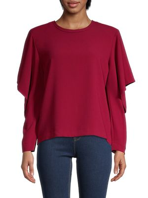 IRO Ruffled Long-Sleeve Top