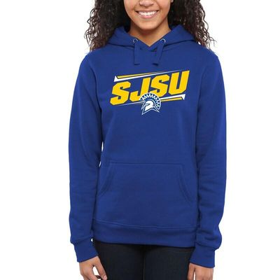 San Jose State Spartans Women's Double Bar Pullover Hoodie - Royal