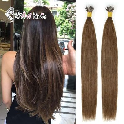 HiArt 0.8g Nano Ring Hair Extensions In Human Remy Hair 2020 Micro Ring Extension Salon Double Drawn Nano Hair Natural Factory