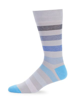 Saks Fifth Avenue Made in Italy Mixed Stripe Crew Socks