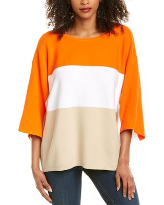 Joan Vass Colorblocked Sweater