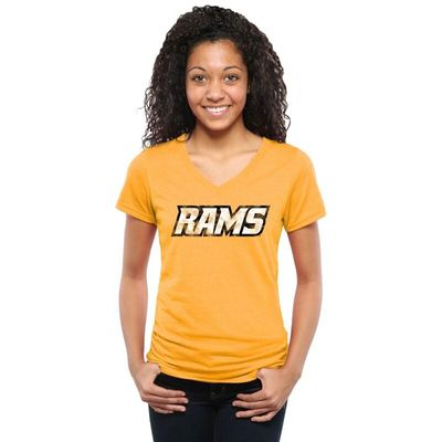 VCU Rams Women's Classic Wordmark Tri-Blend V-Neck T-Shirt - Gold