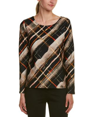 Sara Campbell Plaid Knit Top
