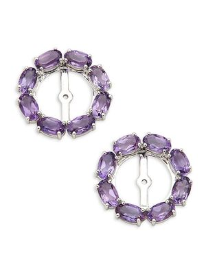 Hueb 18K White Gold & Amethyst Earring Add-On Halo Pieces