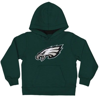 Philadelphia Eagles Toddler Fan Gear Primary Logo Pullover Hoodie - Midnight Green