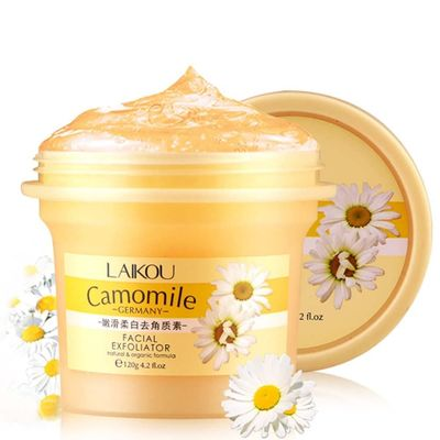 Facial Cleansing Exfoliator Camomile Face Cream Face Scrub Deep Cleansing Whitening Peeling Cream Gel 120g