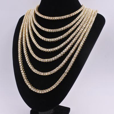 5mm 1 row chain tennis necklace fashion jewelry mens hiphop iced out bling unisex with high quality crystal silver color