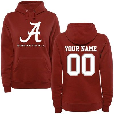 Alabama Crimson Tide Women's Personalized Basketball Logo Pullover Hoodie - Crimson