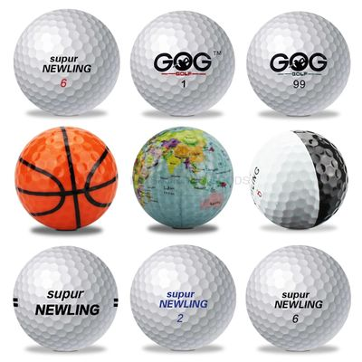 Brand new Golf Ball GOG and Supur Newling Golf Balls Supur Long Distance basketball global map  Globe Crystal ball dropship 1pc