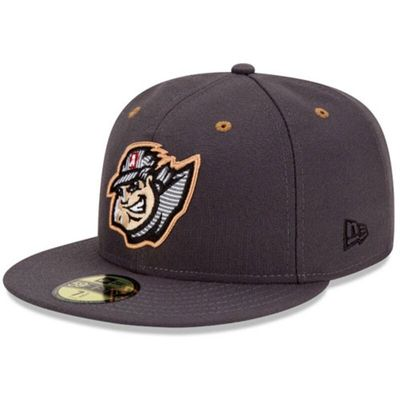 Altoona Curve New Era Authentic Road 59FIFTY Fitted Hat - Graphite
