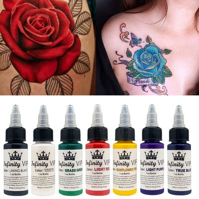 30ML Semi Permanent Natural Plant Tattoo Pigment Permanent Makeup Tattoos Ink Pigment For Body Art Paint Tattoo Color Inks TSLM2