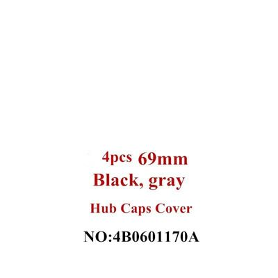 4x 69MM Car-styling  Black/gary Car Accessories Center Hub Caps Car Rim Wheel Hub Cover Cap  For  A6 C6 Rims