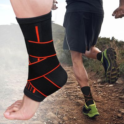 Pressurizable Adjustment Protection Foot Bandage Ankle Support Brace Protect Sprain Prevention Sport Fitness Ankle Guard Band