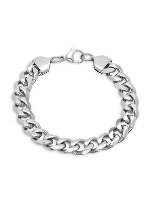 Anthony Jacobs Stainless Steel Cuban-Link Chain Bracelet