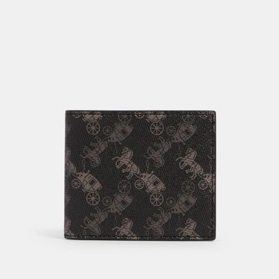 COACH Id Billfold Wallet With Horse And Carriage Print