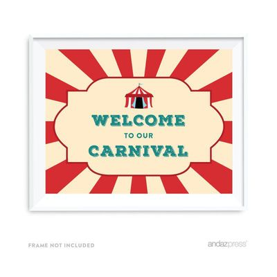 Welcome To Our Carnival Carnival Circus Birthday Party Signs