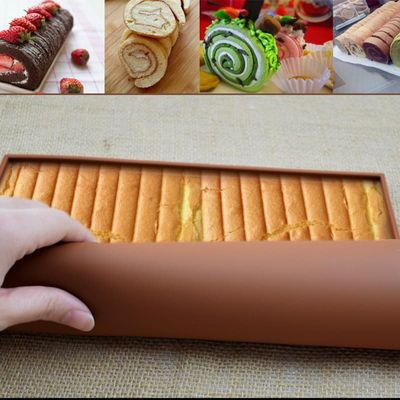 1pc Swiss Roll Mat Tools Nonstick Baking Pastry Silicone Baking Rug Mat Silicone Mold Cake Pad Baking Tool Kitchen Accessories