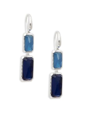 Ippolita Sterling Silver, Blue Quartz & Hematite Drop Earrings